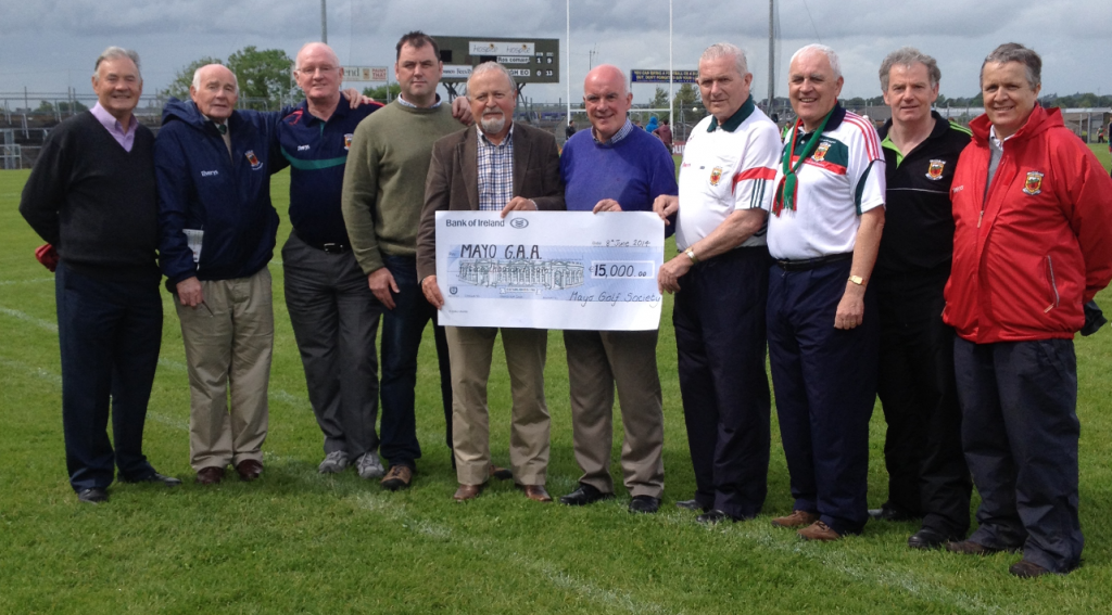 Presenting the cheque to Mayo County Board